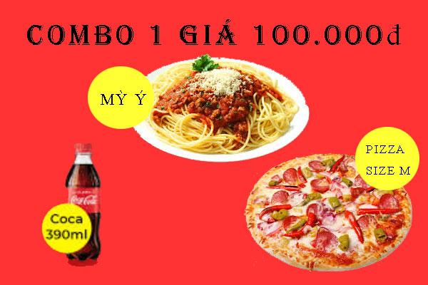 COMBO khuyến mại Pizza Hà Nội.