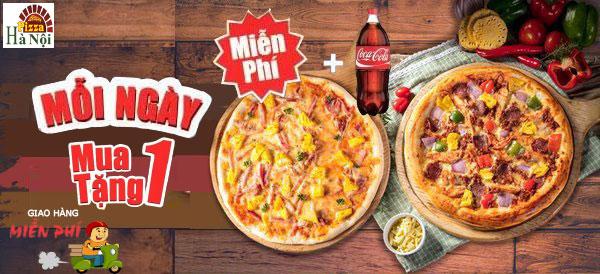 pizza hà nội khuyến mại