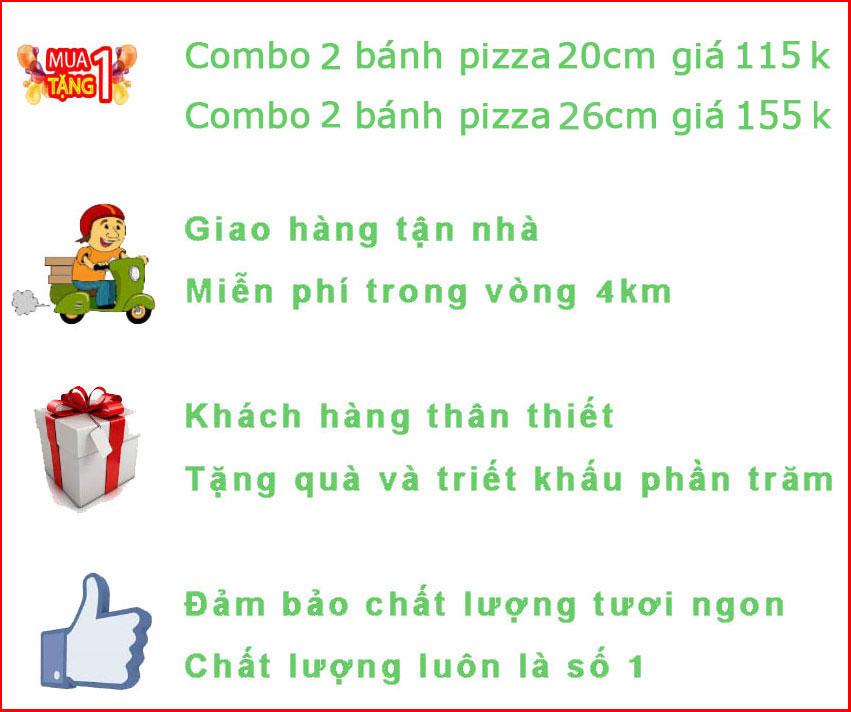 khuyến mại Pizza Hà Nội